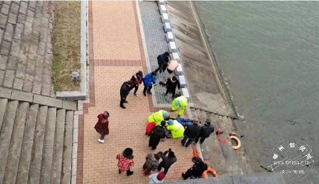 一女子落入访戴桥附近水域 为了救人他一头扎进了冰冷的水里