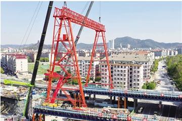 舜江大桥主桥施工开始