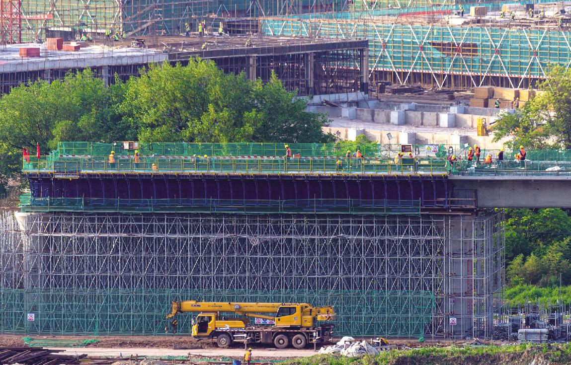金甬铁路黄泽江特大桥即将进入跨江施工阶段