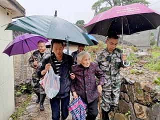 抗击强降雨 庆元在行动