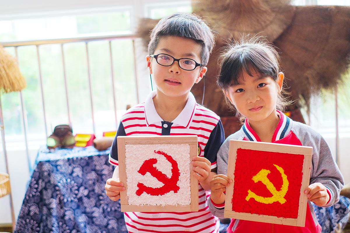 玉城:童心向党绘画卷 红色基因植心中