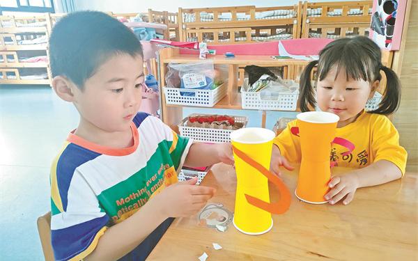 6月17日江南街道中心幼儿园组织开展了父亲节主题活动