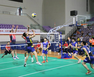 """""""气""""势十足 我县举行2021年中国·皇冠体育在线岛气排球精英赛"""