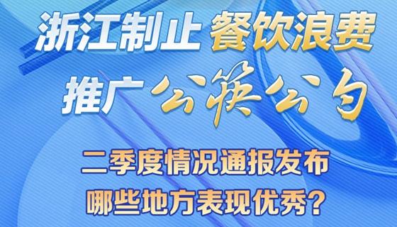 浙江制止餐饮浪费、推广公筷公勺二季度情况通报发布 哪些地方表现优秀?