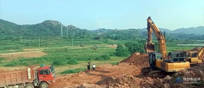缙云县农产品加工小微园(一期) 一土石方工程正式开工
