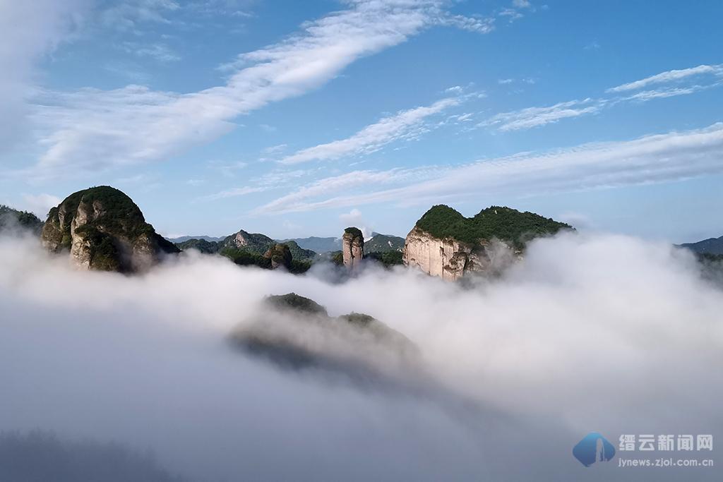 岩门 晨雾缭绕 美如仙境