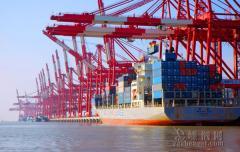 上月舟山口岸進出口貨運量大幅增長