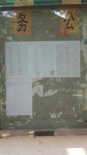 谢家庄村进行2013年上半年度村级财务公开图片