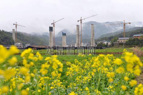 衢宁铁路龙泉段项目建设如火如荼