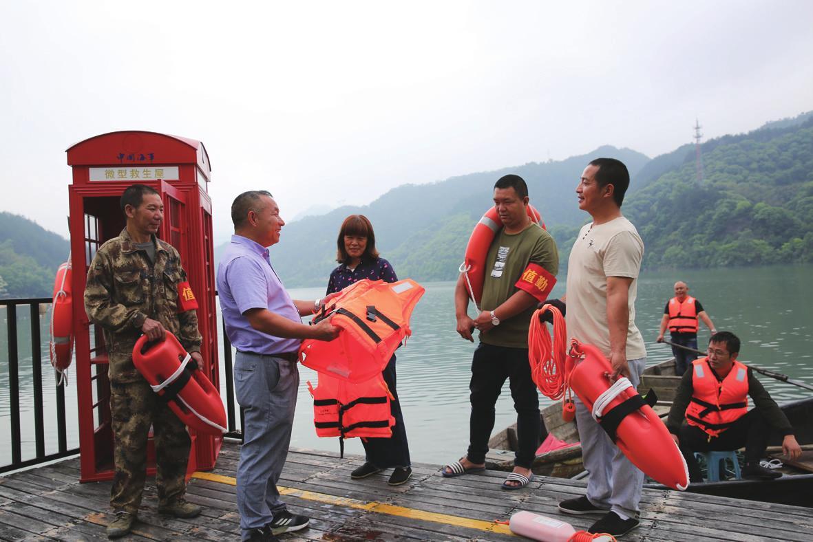 水上安全巡逻队 保障游客安全