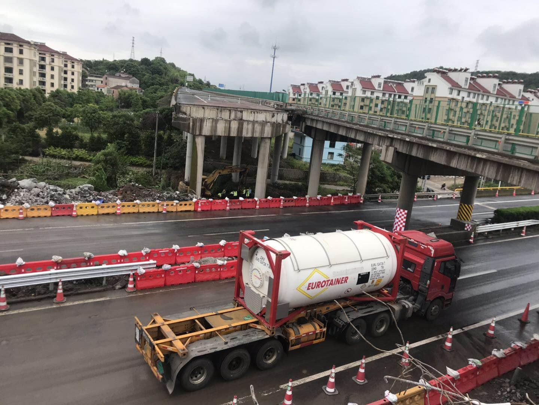 甬金高速嵊州段恢复双向通车